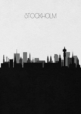 Digital Art - Stockholm Cityscape Art by Inspirowl Design