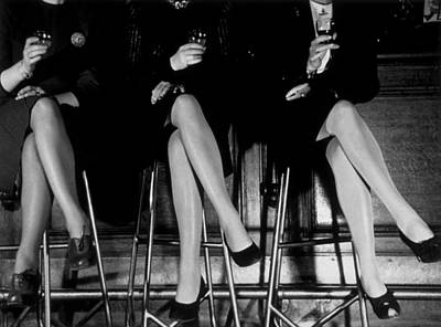Drinking Photograph - Stockings by Kurt Hutton
