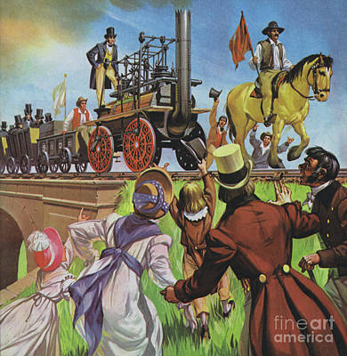 Painting - Stockton And Darlington Railway by Angus McBride