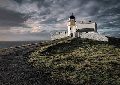 Photograph - Stoer Head Lighthouse Sunset by Dave Bowman