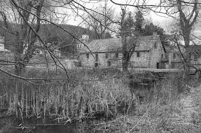 Photograph - Stone And Reeds - Waterloo Village by Christopher Lotito
