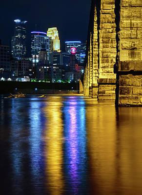 Photograph - Stone Arch Bridge, Minneapolis MN by Howard Yermish