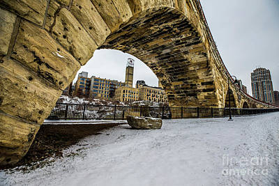 Photograph - Stone Arch Winter by Habashy Photography