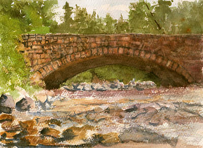 Painting - Stone Bridge by Barry Jones