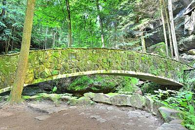 Photograph - Stone Bridge In Old Mans Cave Hocking Hills Ohio by Lisa Wooten
