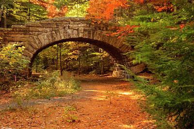 Autumn Photograph - Stone Bridge, Part Of Carriage Roads by Danita Delimont