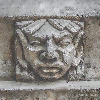 Digital Art - Stone Face by Phil Perkins