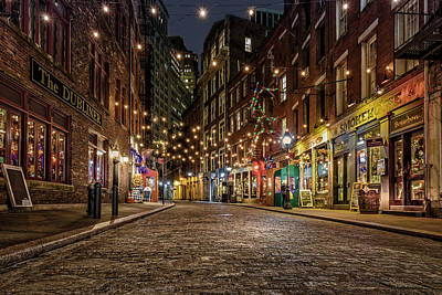 Photograph - Stone Street Manhattan Nyc by Susan Candelario