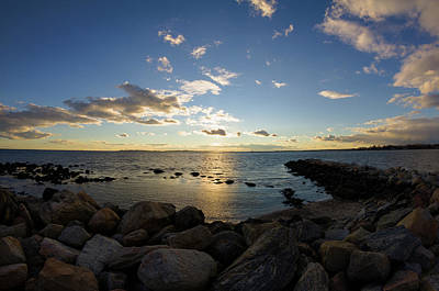 Stonington Point On The Rocks - Stonington Ct Art Print