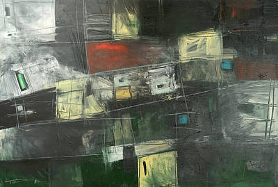 Painting - Storage Sheds Abstract by Tim Nyberg