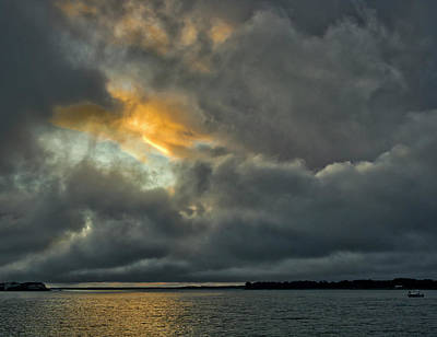 Photograph - Storm Approaches At Sunset by David Kay