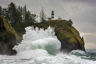 Photograph - Storm At Cape Disappointment by Wes and Dotty Weber
