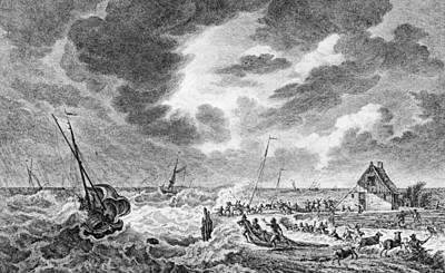 Storm At Sea Art Print by Hulton Archive