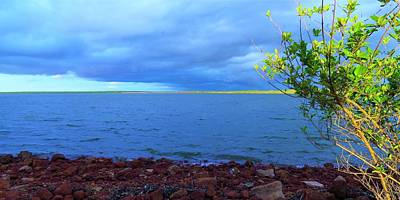 Photograph - Storm Bauxite And Bridge by Joan Stratton