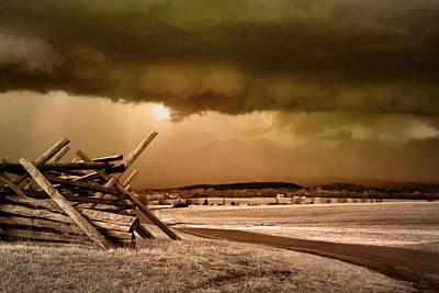 Storm Brewing Art Print