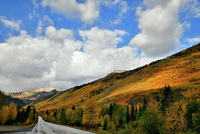Photograph - Storm Brewing Over Fall Colored Million Dollar Highway by Ray Mathis
