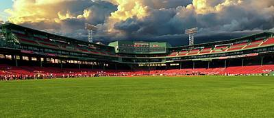 Photograph - Storm Building At Fenway by Paul Mangold
