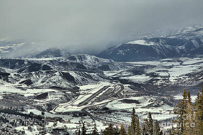 Photograph - Storm Clouds Over The Aspen Airport by Adam Jewell