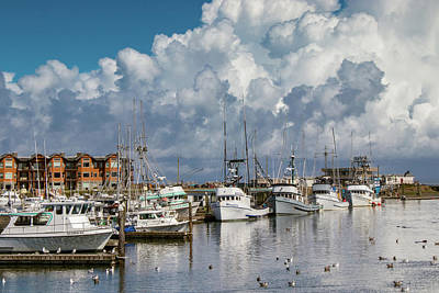 Photograph - Storm Clouds Over Westport, Wa by Lost River Photography
