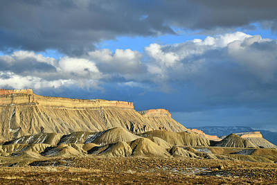 Photograph - Storm Clouds Pass Over Book Cliffs by Ray Mathis