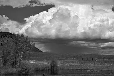 Photograph - Storm Coming In Black And White by Kae Cheatham