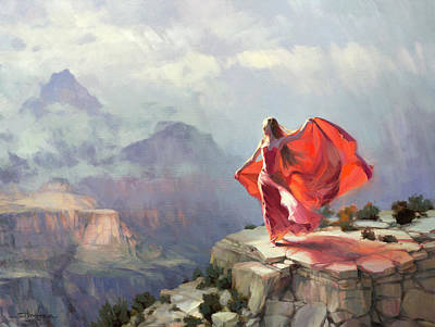 Painting - Storm Maiden by Steve Henderson