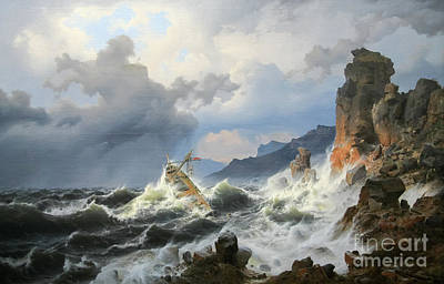 Hollywood Style - Storm on Norwegian coast by Reproduction