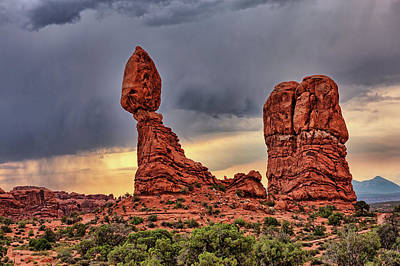 Photograph - Storm Over Balanced Rock by Kyle Lee