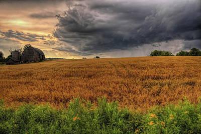 Photograph - Storm Over Golden Grain by Dale Kauzlaric