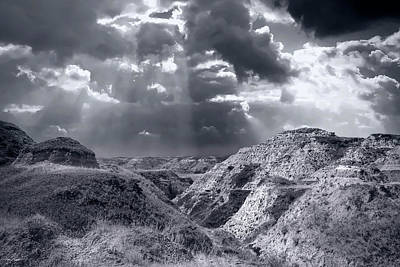 Photograph - Storm Over The Badlands by Philip Rispin