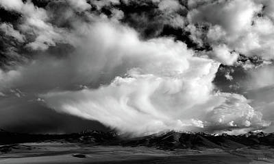 Photograph - Storm Textures Black And White by Leland D Howard