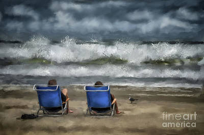Digital Art - Storm Watchers by Lois Bryan