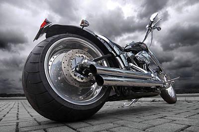 Photograph - Storming Harley by Gill Billington