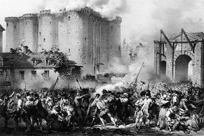 Storming The Bastille Art Print by Hulton Archive