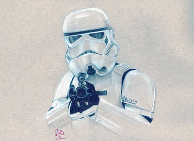 Drawing - Stormtrooper by Gus Romero IV