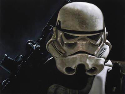 Stormtrooper Of Star Wars In Desert Storm #r045 Original
