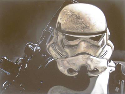 Stormtrooper Of Star Wars In Desert Storm #r21 Original