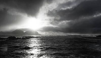 stormy coastline in northern Norway Art Print