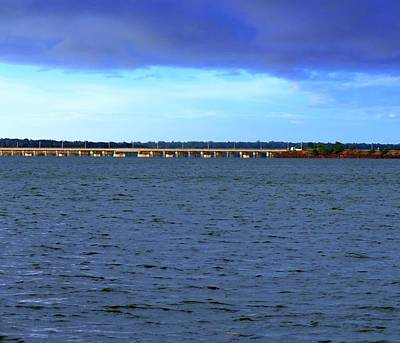 Photograph - Stormy Mission River Bridge by Joan Stratton