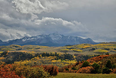 Photograph - Stormy Mountains And Fall Colors Over Telluride by Ray Mathis