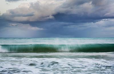 Photograph - Stormy Ocean Wave - Kailua, Oahu by Charmian Vistaunet