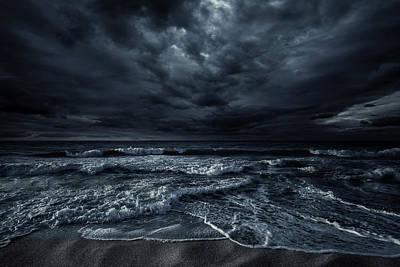 Photograph - Stormy Sea by Da-kuk