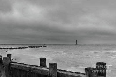 Photograph - Stormy Seas - Morris Island Light In Charleston South Carolina by Dale Powell