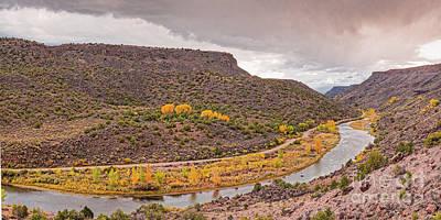 Photograph - Stormy Skies Over The Rio Grande Del Norte At Orilla Verde - Taos County New Mexico by Silvio Ligutti
