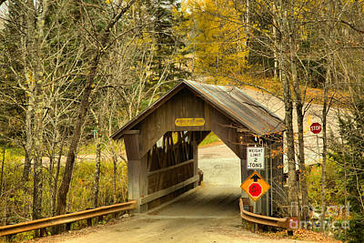 Photograph - Stowe Hollow Covered Bridge by Adam Jewell