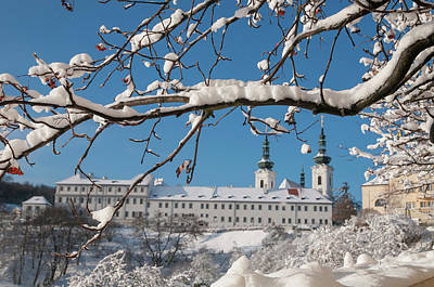 Photograph - Strahov Monastery. View Through Snowy Branches by Jenny Rainbow