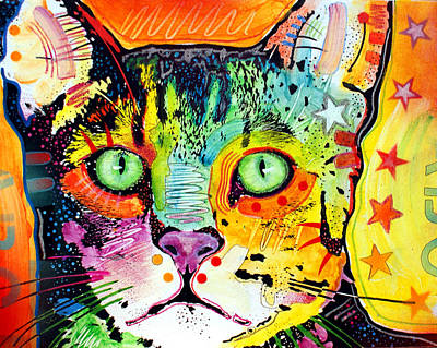 Painting - Straight Cat by Dean Russo Art