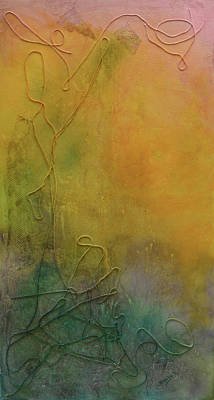 Mixed Media - Strands Of Time Float Into The Mist by Donna Blackhall