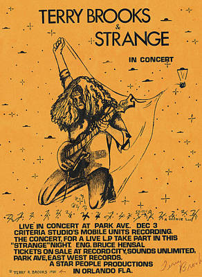Photograph - Strange Poster 1981 By Terry R. Brooks by Ben Upham