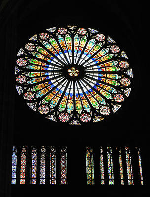 From The Kitchen - Strasbourg Cathedral Stained Glass Window by Emmy Marie Vickers